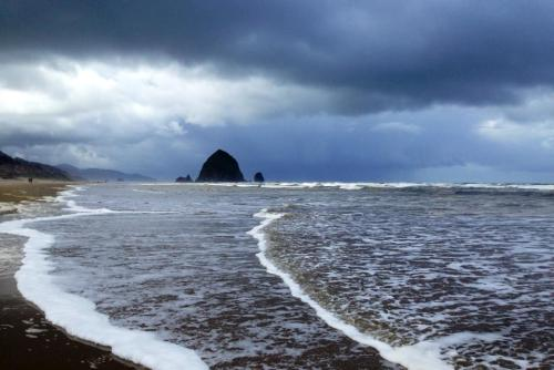 Goonies Beach on a Stormy Day