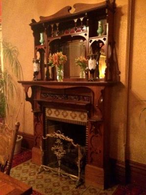Fireplace in Restaurant