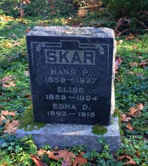 Hans P, Elise and Edna SKAR
