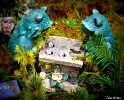 frogs playing chess