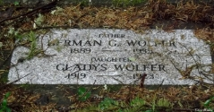 Herman and Gladys Wolfer father daughter